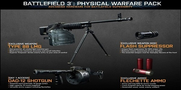 Battlefield 3 Physical Warfare Pack